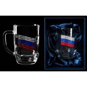 Пивная кружка Флаг России