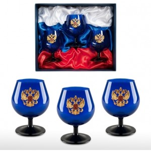 Набор бокалов для коньяка Триколор