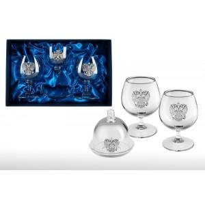 Набор бокалов для коньяка с лимонницей Гурман