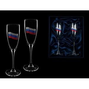 Набор фужеров для шампанского Российский флаг