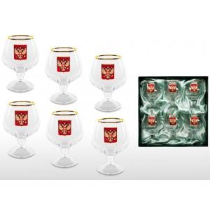 Набор бокалов для коньяка Златоглавый орёл