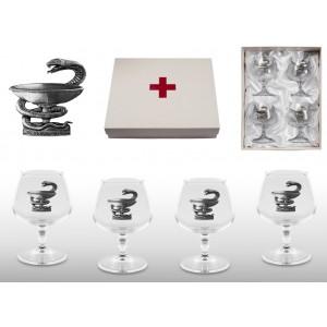 Набор бокалов для коньяка Лучший доктор