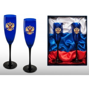 Набор фужеров для шампанского Триколор