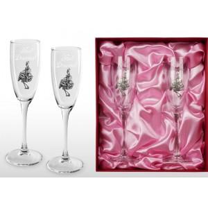 Набор фужеров для шампанского Ура, девочка