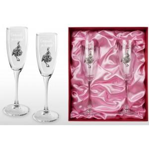 Набор фужеров для шампанского Спасибо за дочку