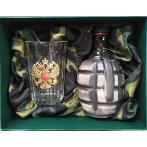 Подарочный набор с гранатой За Россию!