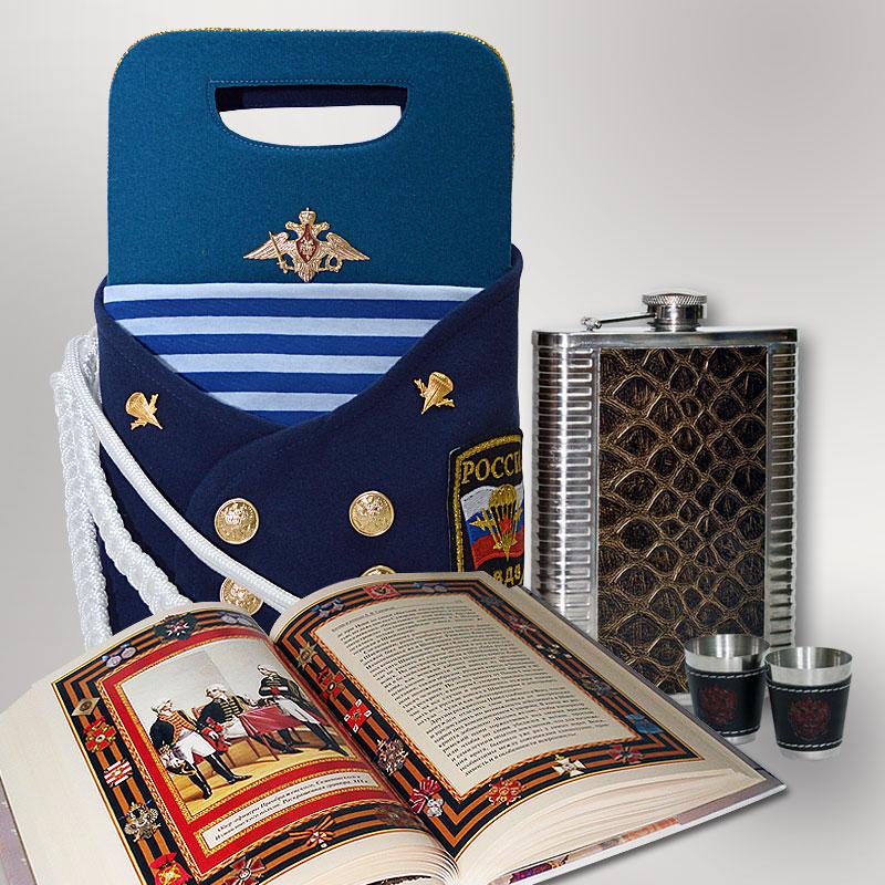 """Подарочный набор """"ВДВ"""" (фляжка, книга, 2 стопки) - 1"""