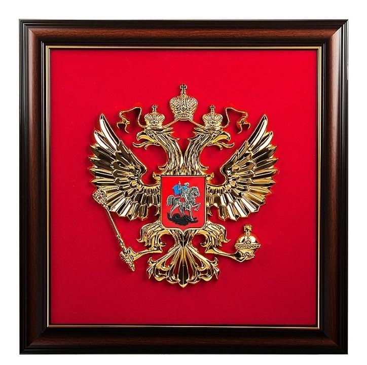 """Панно кабинетное """"Герб РФ"""", 68*79 см от 17 000 руб"""